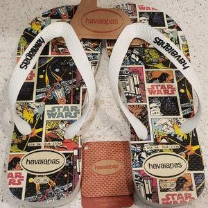 NWT Havaianas Star Wars flip flops sandals